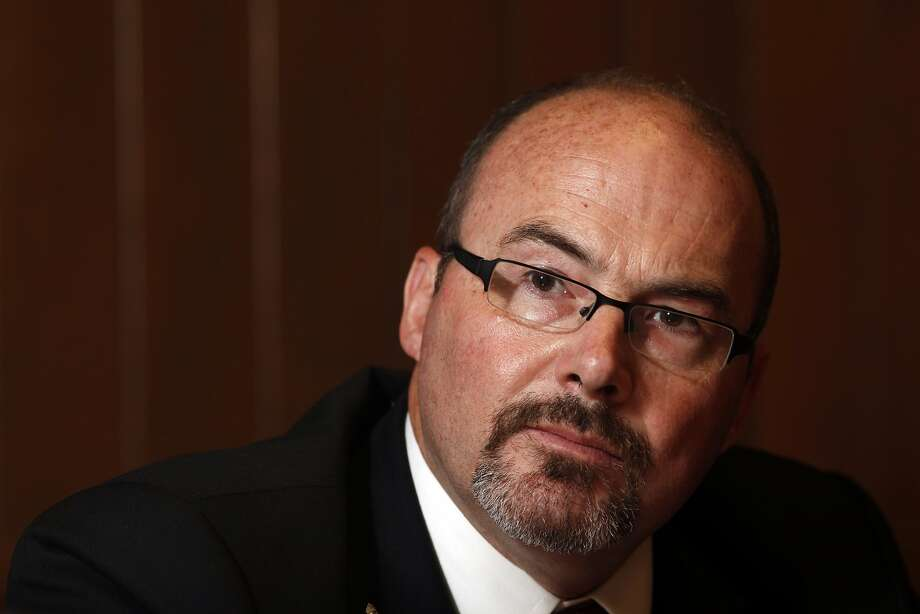 Tim Donnelly, GOP candidate for governor, talks with the San Francisco Chronicle, Wednesday May 14, 2014, in San Francisco, Calif. Photo: Lacy Atkins, SFC