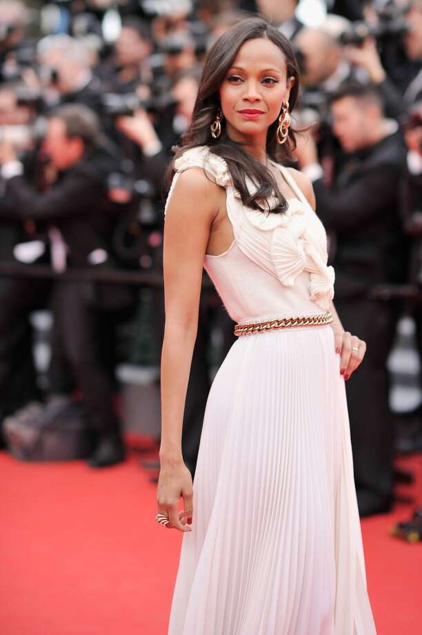 "Zoe Saldana attends the Opening ceremony and the ""Grace of Monaco"" Premiere during the 67th Annual Cannes Film Festival on May 14, 2014 in Cannes, France. Photo: Gareth Cattermole, Getty Images"