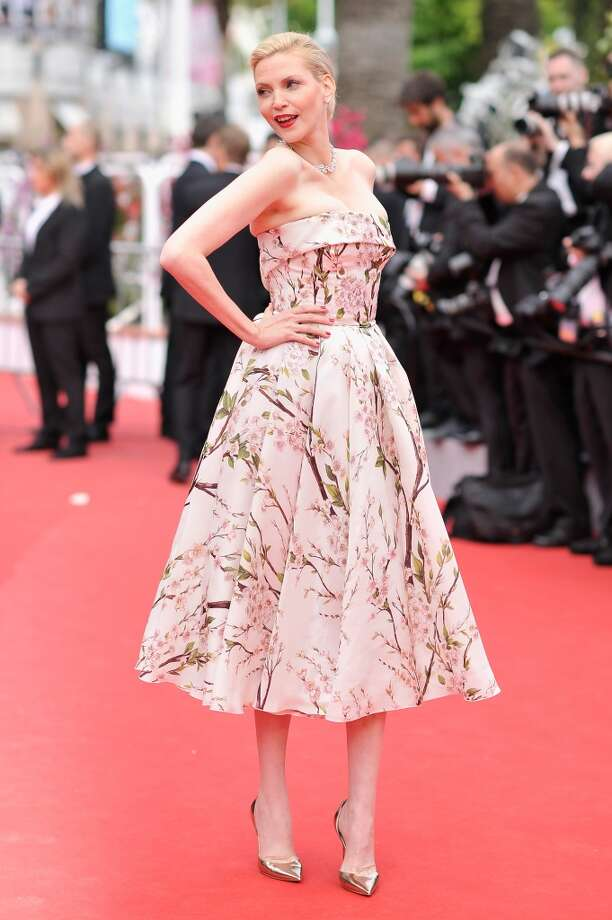 "Nadja Auermann attends the Opening ceremony and the ""Grace of Monaco"" Premiere during the 67th Annual Cannes Film Festival on May 14, 2014 in Cannes, France. Photo: Gareth Cattermole, Getty Images"