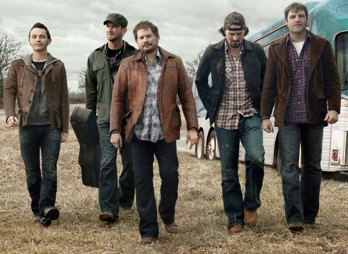 Randy Rogers (center, with his band) will present an acoustic set at the Americana Music Jam at Gruene Hall on Sunday.