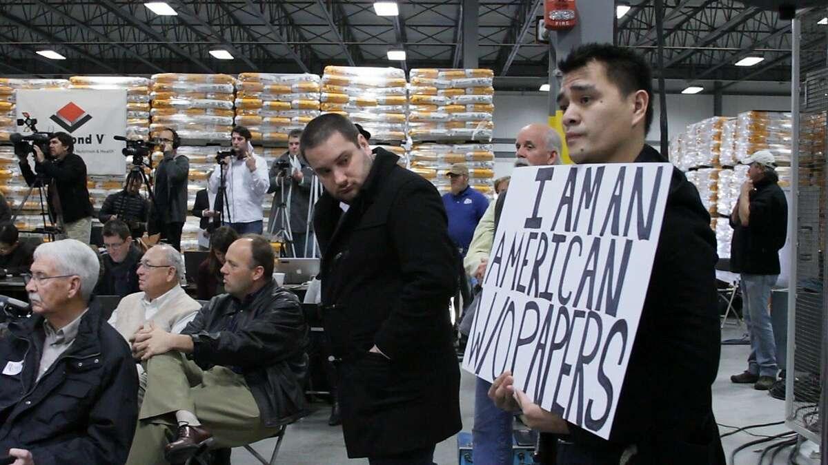 DOCUMENTED Jose Antonio Vargas attends a Mitt Romney presidential campaign rally in Cedar Rapids, Iowa.