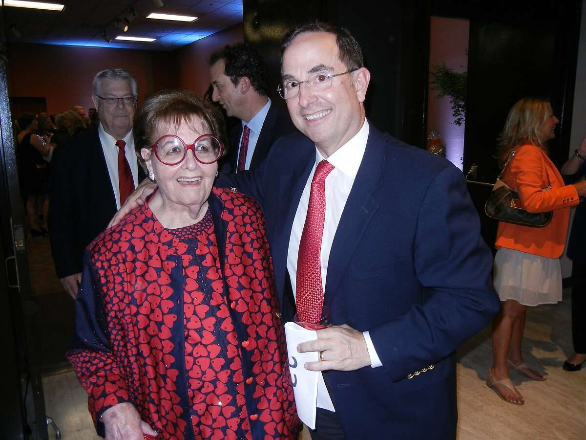 Philanthropist Yvonne Sangiacomo and her son, James Sangiacomo, at the Pomeroy Center's Banner of Love Gala. May 2013. By Catherine Bigelow.