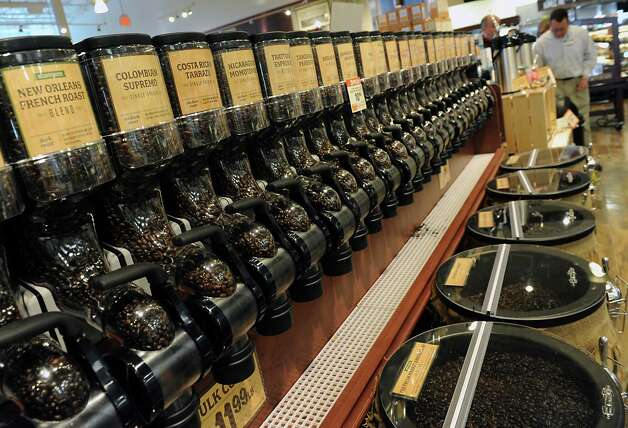 A wide variety of fresh coffee beans are offered in the new Saratoga Springs Fresh Market grocery store Wednesday, May 14, 2014, on Marion Ave. in Saratoga Springs, N.Y. This is the second Fresh Market store in the Capital Region. (Lori Van Buren / Times Union) Photo: Lori Van Buren / 00026895A