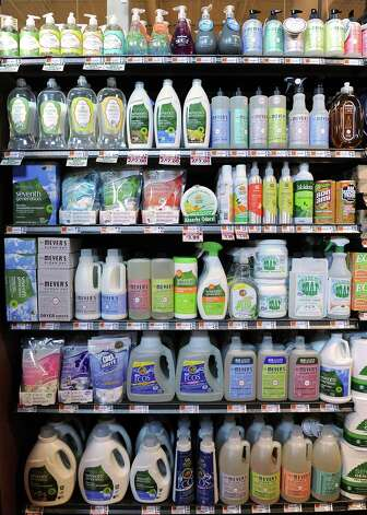 A wide variety of cruelty-free and environmentally-friendly cleaning and personal care products are offered in the new Saratoga Springs Fresh Market grocery store Wednesday, May 14, 2014, on Marion Ave. in Saratoga Springs, N.Y. This is the second Fresh Market store in the Capital Region. (Lori Van Buren / Times Union) Photo: Lori Van Buren / 00026895A