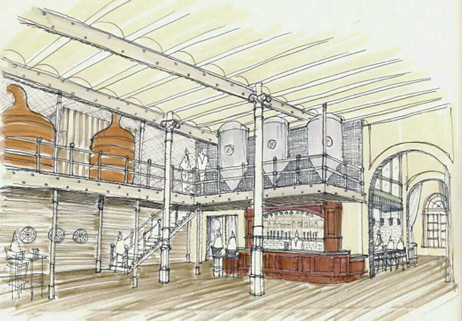 Southerleigh Fine Food and Brewery is expected to open this fall at the historic brewhouse at the Pearl. Photo: Courtesy Illustration
