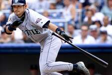 1. Ichiro Suzuki - 2001Right fielder | Free-agent signee, 2000 | With M's 2001-2012 Rookie stats: .350 average, 157 games, 692 at-bats, 242 hits, 69 RBIs, 8 homers, 56 stolen bases2001 honors: A.L. MVP, A.L. Rookie of the Year, A.L. All-Star team, RF Gold Glove, RF Silver Slugger Sure, Suzuki was 27 when he moved from Japan to Seattle in 2001, so like many of the Mariners' other best rookies, he wasn't exactly a novice. But he is hands-down Seattle's best-ever rookie, if not its best-ever all-around player. Suzuki led the majors in hits, stolen bases and at-bats that year as the Mariners won 116 games, and he led the American League with a whopping .350 batting average. No wonder he won so many awards.