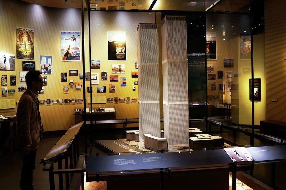 The only World Trade Center presentation model still in existence is viewed during a preview of the National September 11 Memorial Museum on May 14, 2014 in New York City. Photo: Spencer Platt, Getty Images / 2014 Getty Images