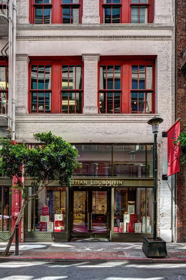 Christian Louboutin opened its first freestanding San Francisco boutique on  Maiden Lane on May 12. Photo: Drew Altizer, Photo - Drew Altizer