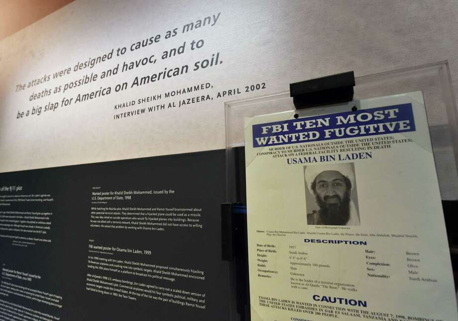 A display showing information, is seen during a press preview of the National September 11 Memorial Museum at the World Trade Center site May 14, 2014 in New York. Photo: STAN HONDA, AFP/Getty Images / AFP