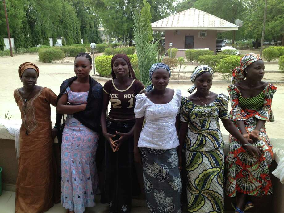 In an undated photo, six of the Nigerian schoolgirls who managed to escape Boko Haram kidnappers in April 2014. More than 260 schoolgirls are still missing,  and on May 13, President Goodluck Jonathan rejected Boko HaramOs demand that he free the groupOs imprisoned members around the country in exchange for the girls, according to a British minister who met with him. (Adam Nossiter/The New York Times)                               ORG XMIT: XNYT168 Photo: ADAM NOSSITER / NYTNS