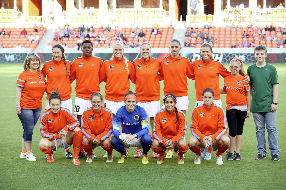 The starting eleven Houston Dash before playing against the Portland Thorns on May 14, 2014 at BBVA Compass Stadium in Houston, TX. Portland won 1 to 0. Photo: Thomas B. Shea, For The Chronicle / © 2014 Thomas B. Shea