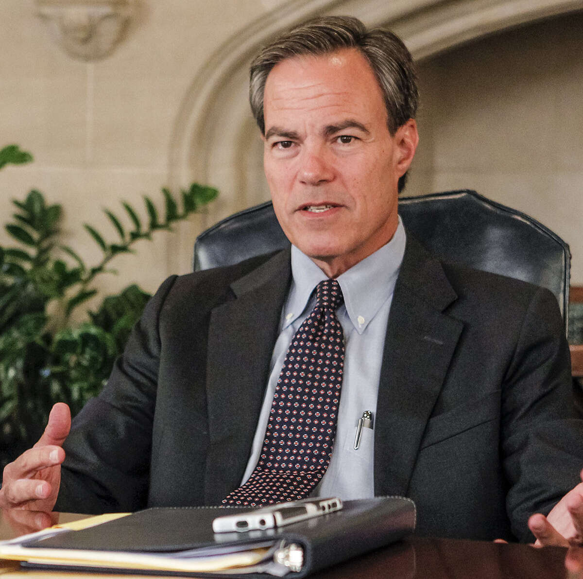 House Speaker Joe Straus said the proposal offers needed transportation money without a tax increase.