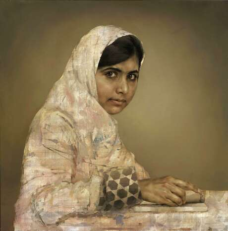 This portrait of Malala Yousafzai sold for $102,000 at auction that will be used for the Pakistani activist's charity and given to Nigerian charities. Photo: Jonathan Yeo, HOEP / National Portrait gallery