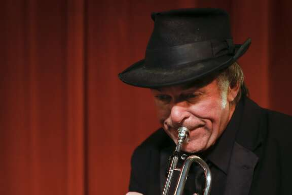 Beach Blanket Babylon trumpet player Steve Salgo is seen in Club Fugazi on Friday, April 11, 2014 in San Francisco, Calif.