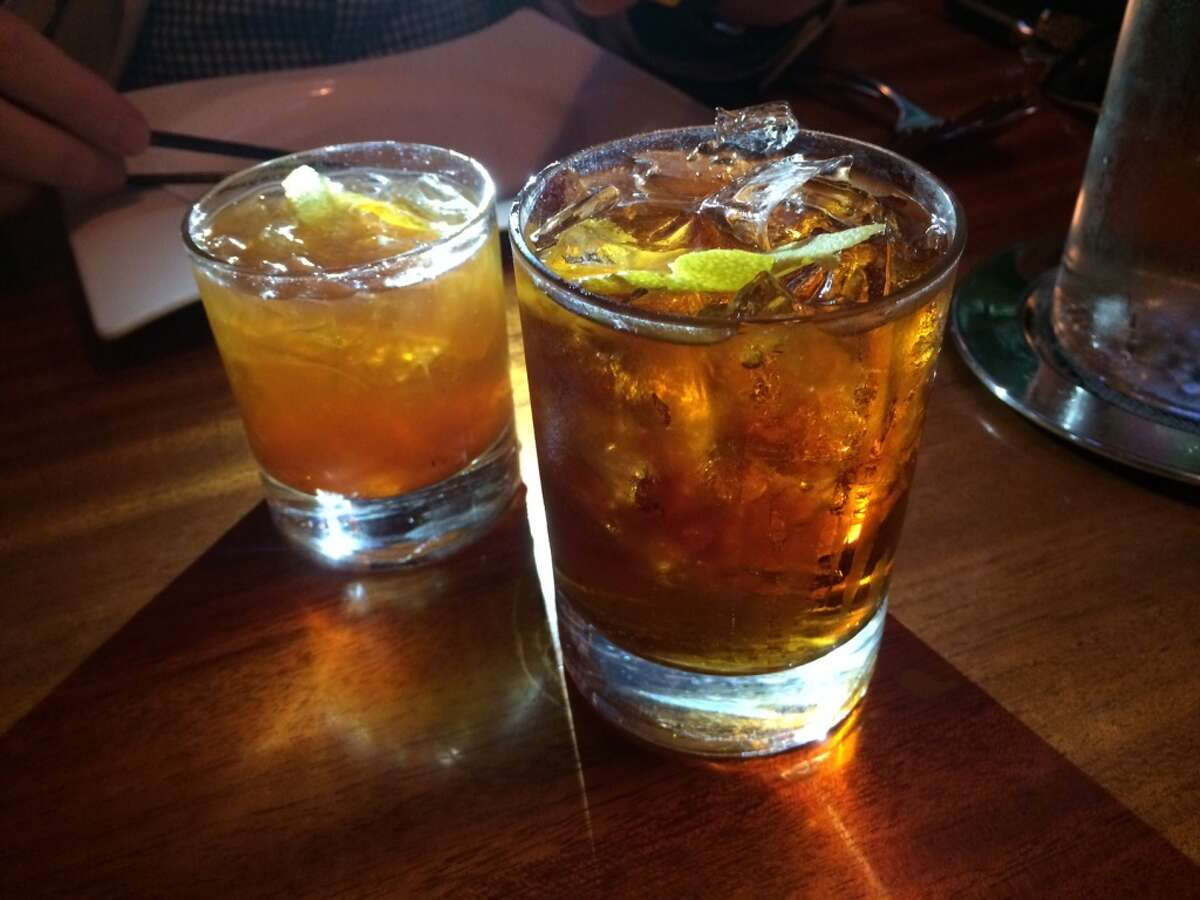 Many cocktails also have unusual ingredients, including the JUXT Because ($12) with Square One botanical, cynar and cappelletti; and Louie's Old Fashioned ($10) with Old Forester bourbon, kumquat and tamarind