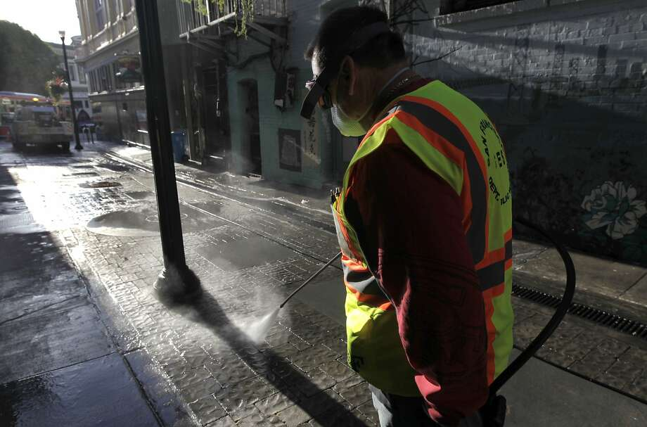 Good luck walking two blocks in downtown San Francisco without smelling piss, says Debra Saunders. Photo: Paul Chinn, The Chronicle