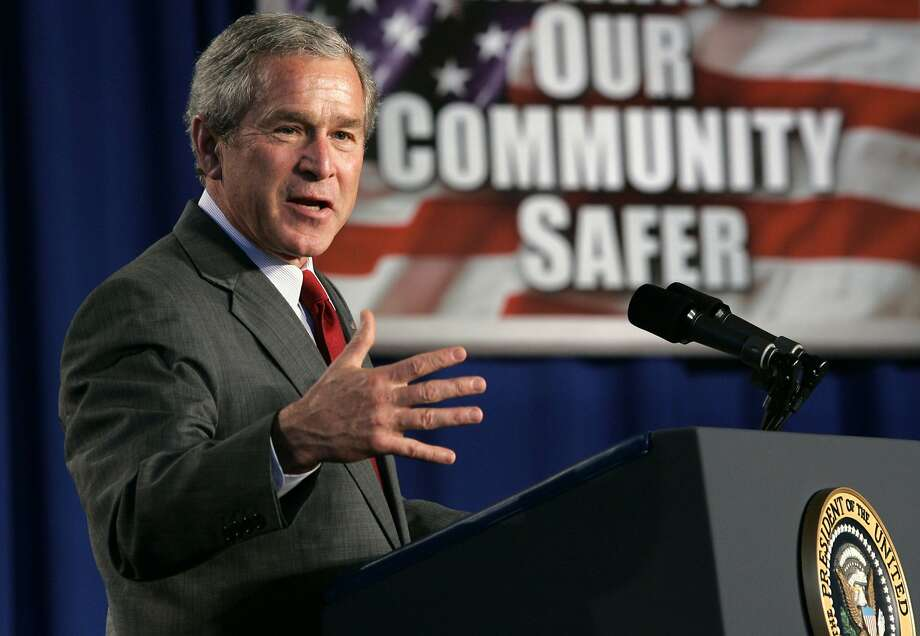 President George W. Bush in 2005 pushed for the renewal of parts of his Patriot Act, which were to expire four years after the Sept. 11, 2001, attacks. Photo: Kevin Lamarque, REUTERS