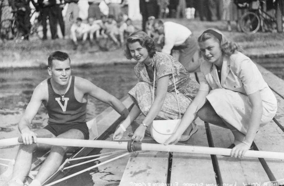 1948:Grace Kelly with her sister, Elizabeth and her brother, John B Kelly Jr at Henley Royal Regatta, Henley-on-Thames. Photo: Evening Standard, Getty / Hulton Archive