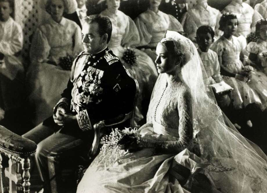 18th April 1956:Grace Kelly marries Prince Rainier of Monaco Photo: Rolls Press/Popperfoto, Getty / Popperfoto