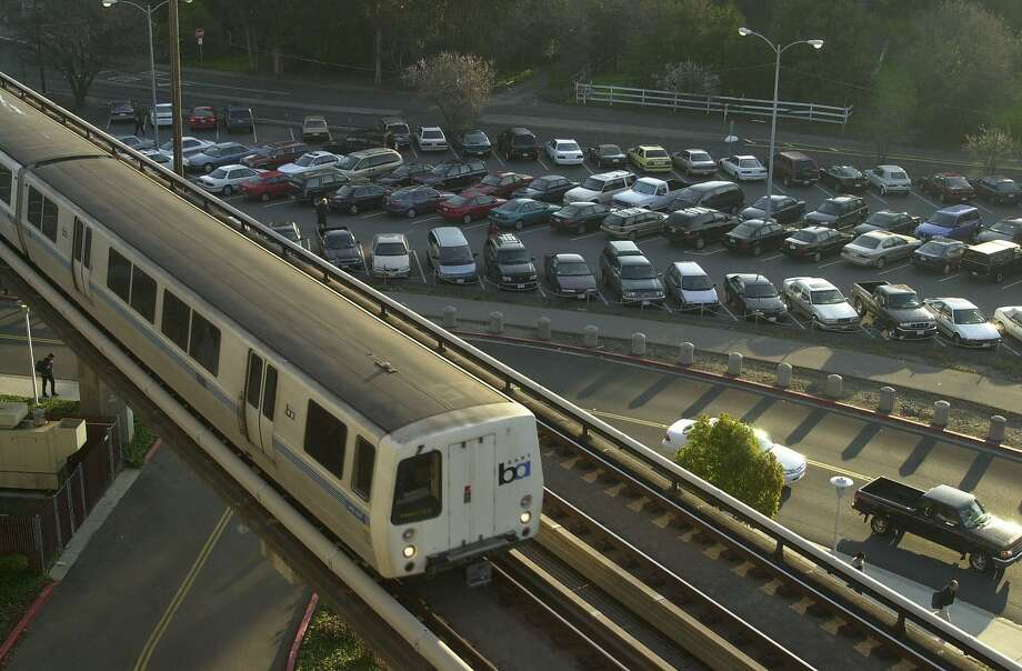 In this file photo a BART train pulls into the Pleasant Hill station. Photo: Paul Chinn, The Chronicle