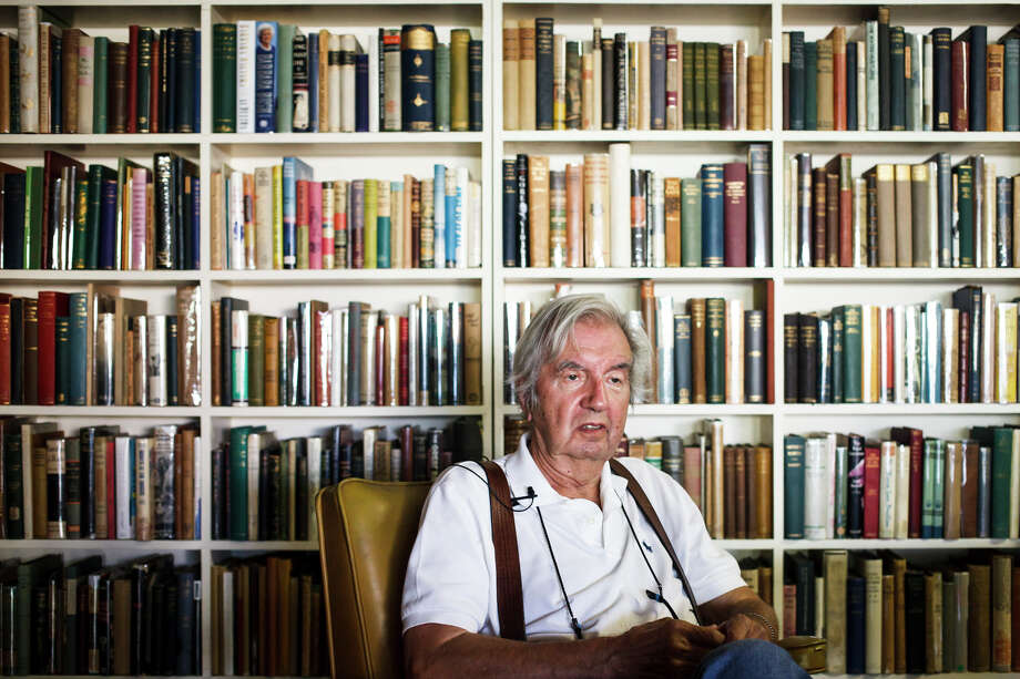 "Larry McMurtry, the famed Texas novelist, screenwriter and bookseller, who won a Pulitzer Prize for his book ""Lonesome Dove"", earned his Master of Arts degree from Rice University in 1960. Photo: Michael Paulsen, Houston Chronicle / © 2012 Houston Chronicle"