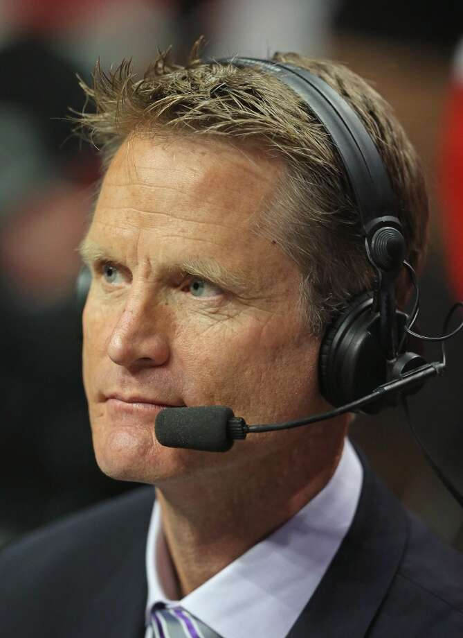 Before he was coach of the Golden State Warriors, Steve Kerr was ...  PHOTO: Kerr provides analysis of the game between the Chicago Bulls and the Washington Wizards in Game 5 of the Eastern Conference quarterfinals on April 29, 2014, in Chicago. Photo: Jonathan Daniel, Getty Images
