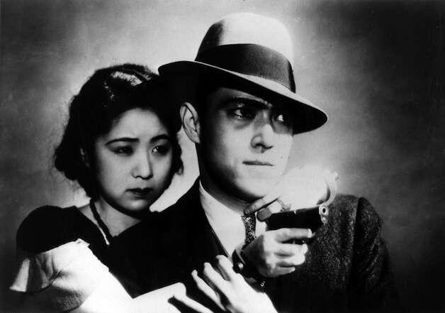 "Kinoyu Tanaka, left, Joji Oka in Yasuhiro Ozu's ""Dragnet Girl"" (1933), showing at the 2014 San Francisco Silent Film Festival. Photo: SF Silent Film Festival"