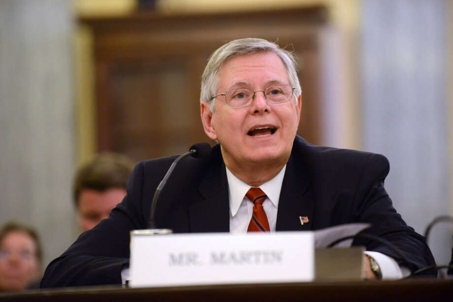 Stamford Mayor David Martin testifies before the U.S. Senate Subcommittee on Surface Transportation, and Merchant Marine Infrastructure, Safety, and Security about the importance of maintaining funding on Metro-North's New Haven Line on Thursday, May 15, 2014. Photo: Contributed Photo, Fred Watkins / Stamford Advocate