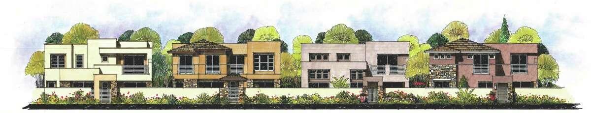 A rending of Royal Oaks Courtyard Villas, an 80-unit residential development to be built by McVaugh Custom Homes.