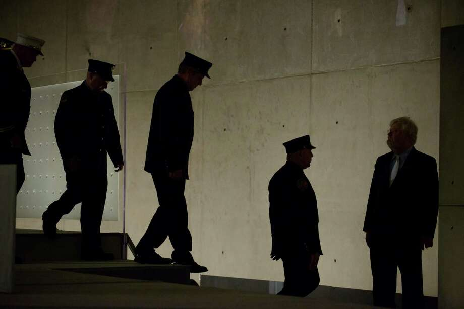 First responders from the FDNY and Port Authority exit the stage during the Dedication Ceremony of the National September 11 Memorial Museum in the museum's Foundation Hall on Thursday, May 15, 2014 in New York. Photo: Charles Eckert, Associated Press / Pool Newsday