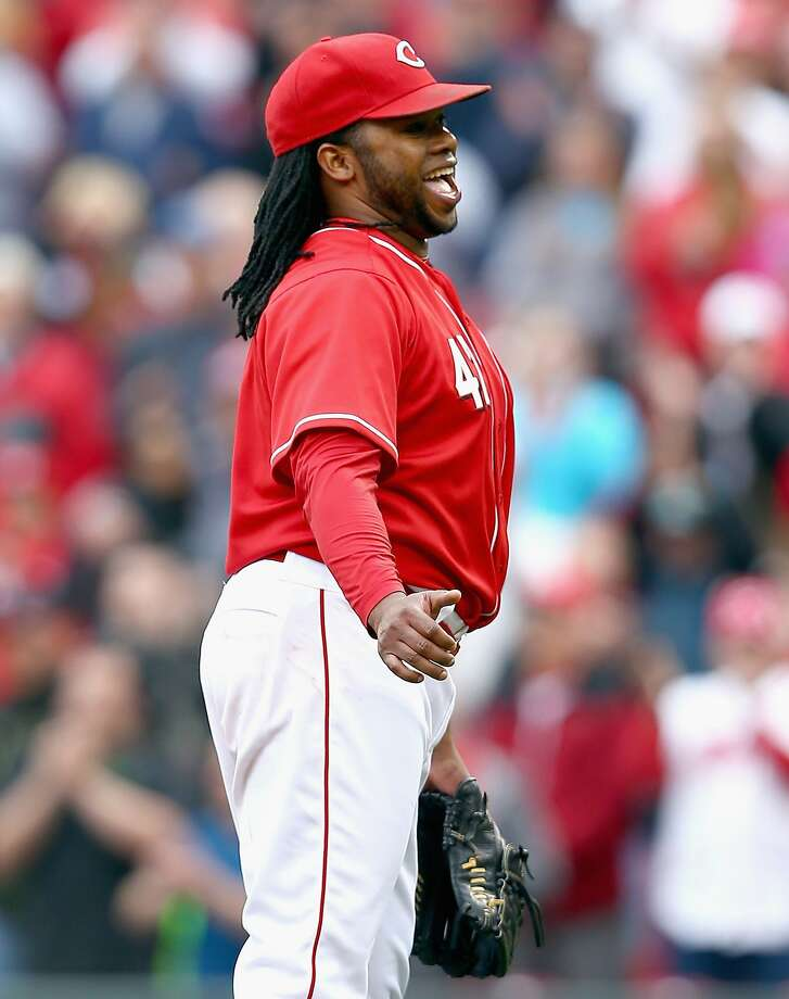 CINCINNATI, OH - MAY 15:  Johnny Cueto #47 of the Cincinnati Reds celebrates after the Reds 5-0 win in the first game of a doubleheader against the San Diego Padres at Great American Ball Park on May 15, 2014 in Cincinnati, Ohio.  Cueto pitched a complete game shutout.  (Photo by Andy Lyons/Getty Images) Photo: Andy Lyons, Getty Images
