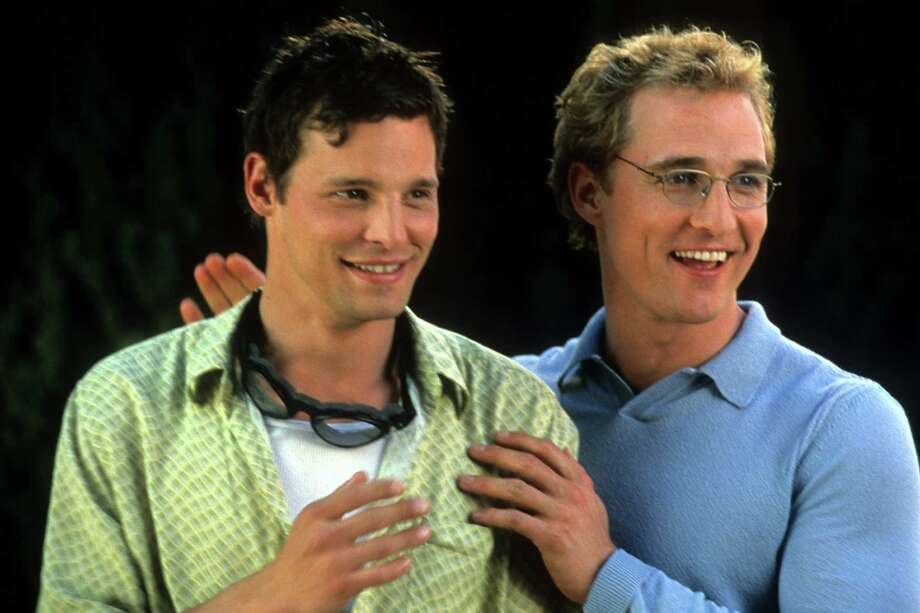 "Justin Chambers, left, with Matthew McConaughey in a scene from the ""The Wedding Planner"" in 2001.  Photo: Archive Photos, Getty Images / 2012 Getty Images"