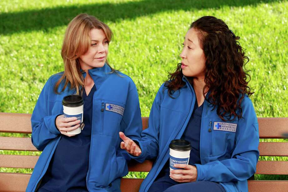 """One of the most enduring relationships on """"Grey's Anatomy"""" was the friendship between Meredith, left, played by Ellen Pompeo, and Cristina. Photo: Ron Tom, Getty Images / 2013 American Broadcasting Companies, Inc."""