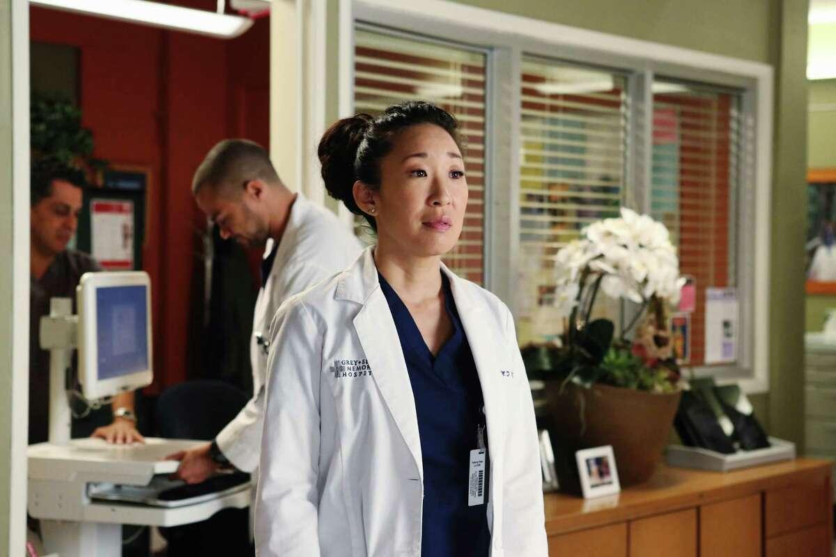 "Sandra Oh as Cristina Yang on ""Grey's Anatomy."""
