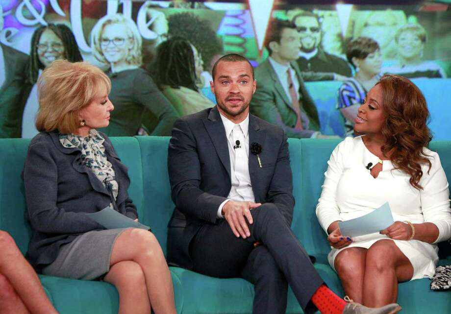"""Grey's Anatomy"" star Jesse Williams visits ""The View"" on Feb. 26, 2014, with Barbara Walters and Sherri Shepherd.  Photo: Heidi Gutman, Getty Images / © 2014 American Broadcasting Companies, Inc. All rights reserved."
