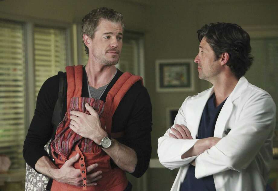 "Eric Dane, AKA ""McSteamy"" (Dr. Mark Sloan), left, is pictured in a scene from ""Grey's Anatomy.""  Photo: Danny Feld, Getty Images / 2010 American Broadcasting Companies, Inc."