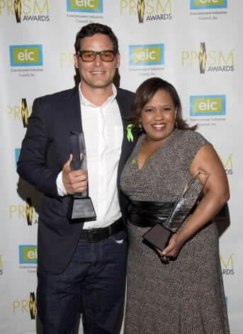 Justin chambers and quot grey s anatomy quot co star chandra wilson at the