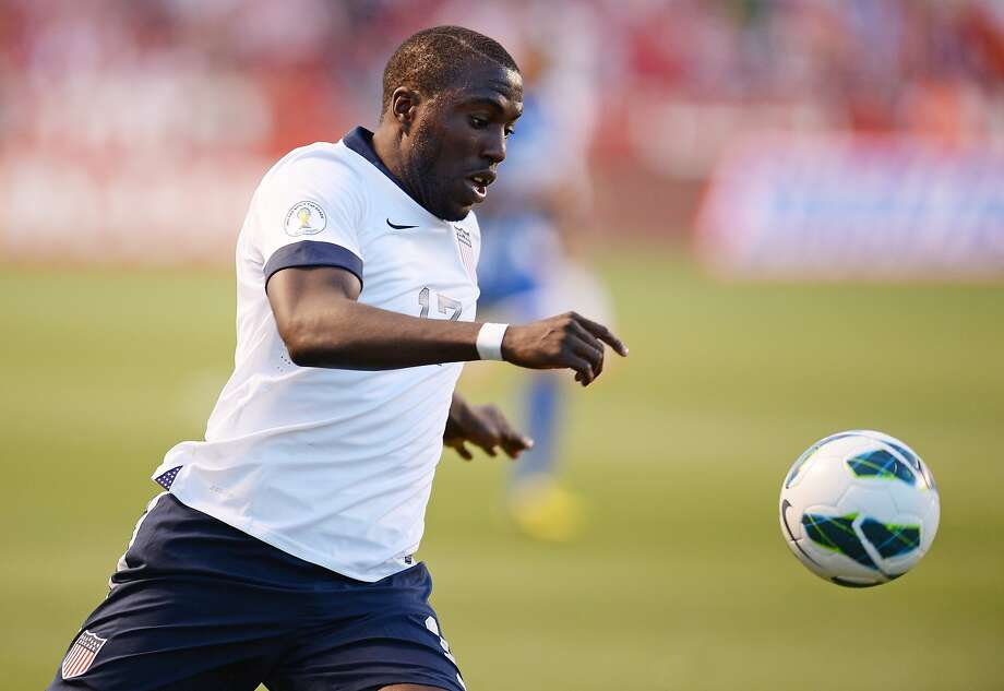 Jozy Altidore, playing against Honduras in a World Cup qualifier in June, had a difficult season in the Premier League. Photo: Robyn Beck, AFP/Getty Images