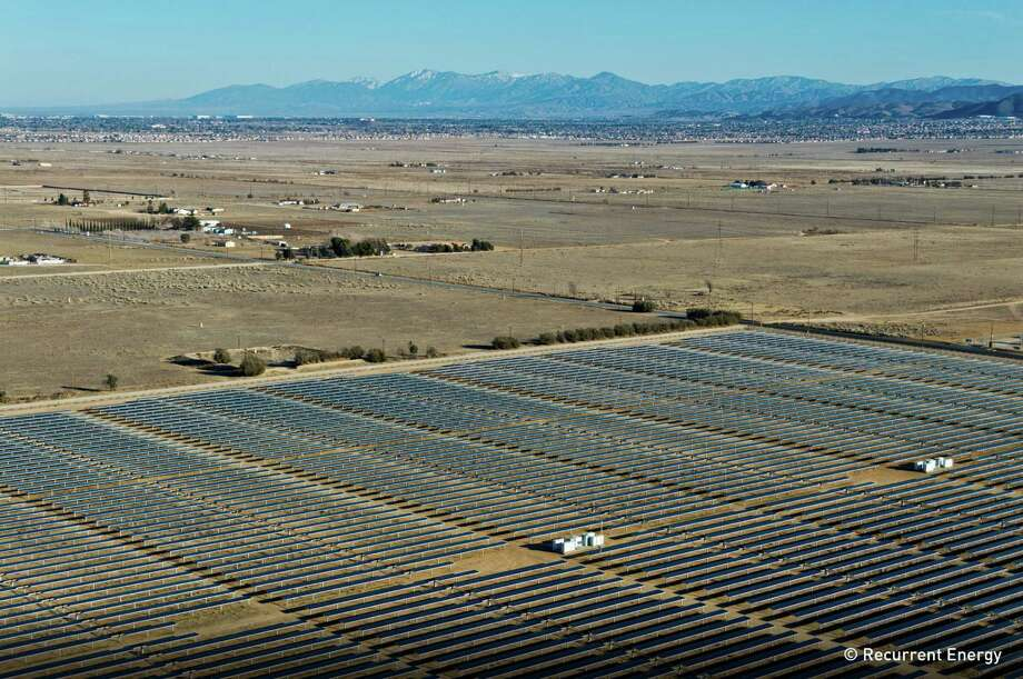 Recurrent Energy, which developed the 26 megawatt TA-High-Desert solar power farm 75 miles north of Los Angeles near Lancaster, California, will build one almost six times as powerful in Texas to serve the city of Austin, it announced on May 15, 2014. Photo: Recurrent Energy