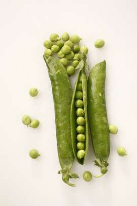 English peas as seen in San Francisco, California on Wednesday April 16, 2014. Food styled by Lynne Char Bennett.