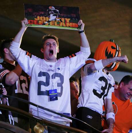 Browns fan were ecstatic when the team used the 22nd pick in the first round on Texas A&M quarterback Johnny Manziel a week ago. Photo: Frank Franklin II, Associated Press / AP
