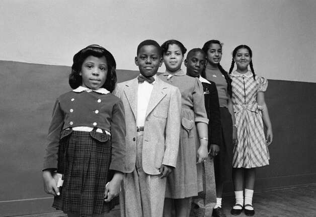 Image result for CARL IWASAKI VIA GETTY IMAGES The children involved in the landmark civil rights suit Brown v. Board of Education: Vicki Henderson, Donald Henderson, Linda Brown, James Emanuel, Nancy Todd and Katherine Carper.