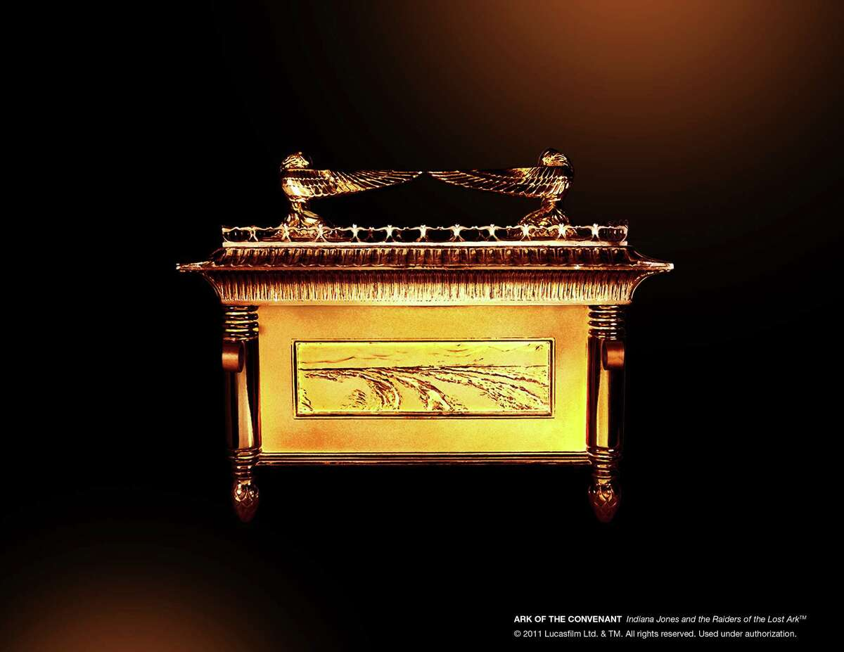 """A film prop of the Ark of the Covenant is included in the """"Indiana Jones and the Adventure of Archaeology"""" exhibit at the Forth Worth Museum of Science and History."""