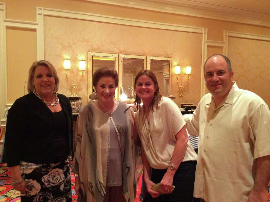 Julie Wolf, Martha Turner, Katherine Bonner, Paul Silverman were among Martha Turner Sotheby's International Realty members on the Circle of Excellence trip to Las Vegas.