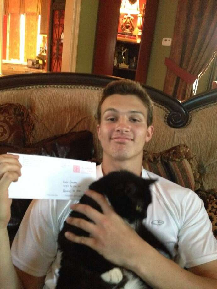 J.T. Granato with his cat after commiting to Rice. (@johngranato) Photo: @johngranato