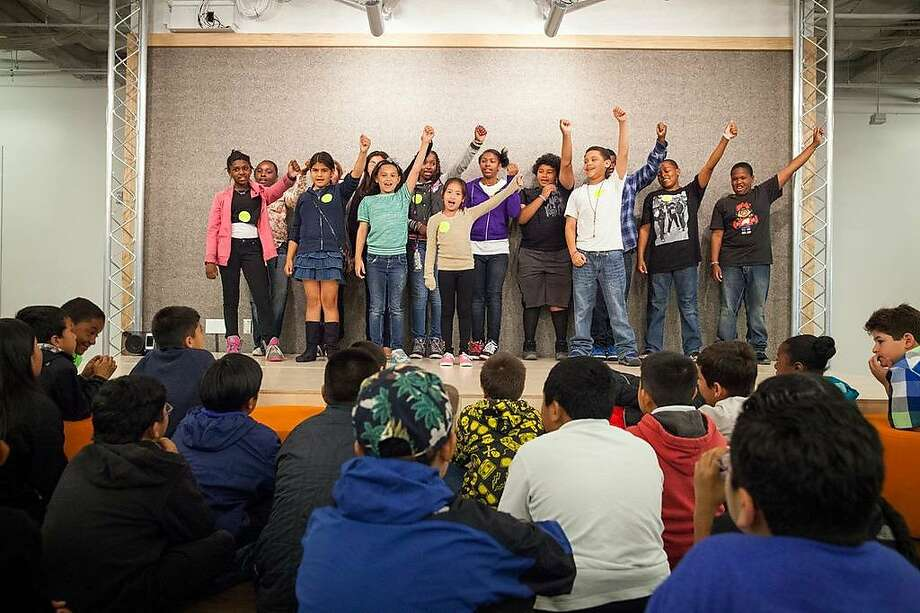 El Dorado Elementary students perform during a field trip to Eventbrite offices as part of the SF.citi program. Photo: Mitch Tobias/Special To The Chronicle