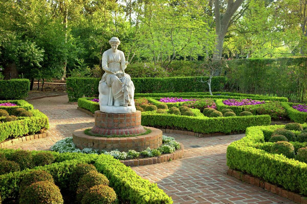 Clio is the Greek muse of history, and her statue reflects Bayou Bend's status as a historic house and garden. Photo courtesy of Museum of Fine Arts Houston