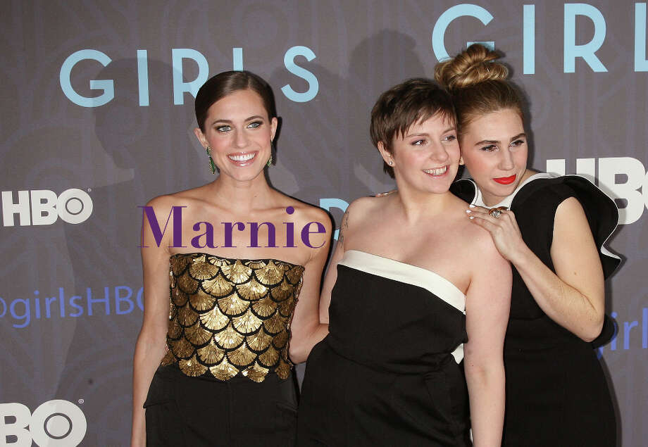 The 60s-ish nickname-name Marnie had its first moment in the sun in the, well, 60s, when the eponymous Hitchcock movie came out, and now is enjoying an unlikely resurgence thanks to the Marnie character played by the lovely Allison Williams (pictured, left) on HBO's 'Girls,' and to its choice by pop singer Lily Allen for her younger daughter. Interest in Marnie, a variation of a Hebrew name meaning rejoice, has shot up sevenfold on Nameberry over the first quarter of last year. Photo: Jim Spellman, Jim Spellman / WireImage / 2013 Jim Spellman