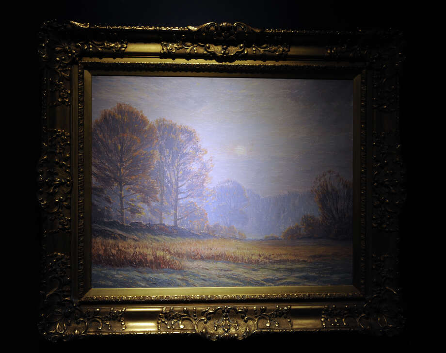 "Leonard Ochtman's painting ""October Morning"", part of the Pasture to Pond: Connecticut Impressionism exhibit at the Bruce Museum, in Greenwich, Conn. Photo: Ned Gerard / Connecticut Post"