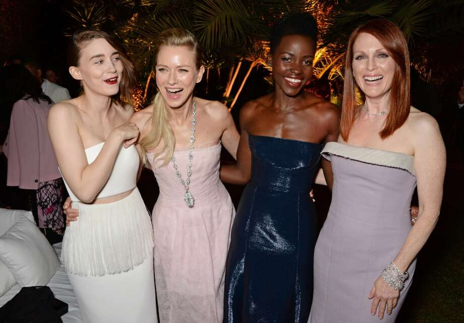 (L to R) Rooney Mara, Naomi Watts, Lupita Nyong'o and Julianne Moore attend the IFP, Calvin Klein Collection & euphoria Calvin Klein celebration of Women In Film on May 15, 2014 in Cannes, France. Photo: David M. Benett, Getty Images